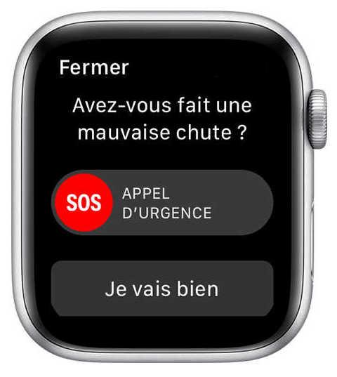 Utiliser une Apple Watch pour la prévention des chutes